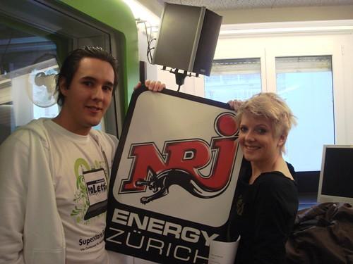 Stefan Steiner und Katja Widemann bei NRJ