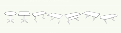 Baltix table shapes