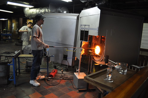 Glassblower at Simon Pearce