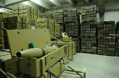 Confiscated Ammunition in Warehouse (Israel Defense Forces) Tags: geotagged israel iran navy mortar grenades illegal rocket raid weaponry israeli missiles weapons idf polyethylene smuggling francop israeldefenseforces hiddenweapons geo:lon=34650192 geo:lat=31829732