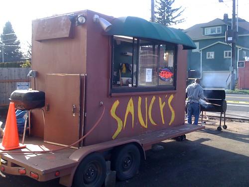 bbq food cart