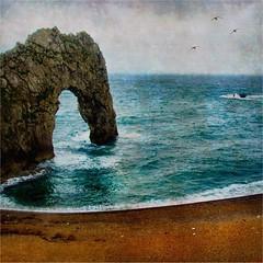 (Big Star ) Tags: uk blue sea england sky texture coast sand rocks dorset weymouth durdledoor