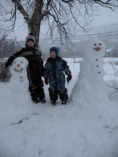 Winter's first snowmen :)