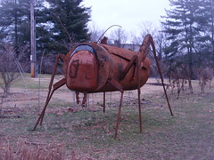 large grasshopper sculpture