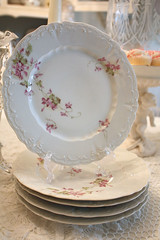 Thrift Store Find! (Romantic Home) Tags: pink vintage plate dishes shabbychic madeingermany