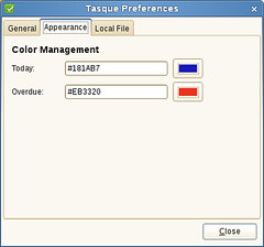 Tasque Preferences