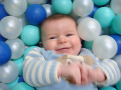 Owen in ball pit