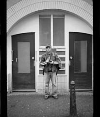 yOuKfOu - Amsterdam ... (Frédéric Buchet) Tags: street city bw white black holland art film monument amsterdam bike pen graffiti noir kodak tag tags nb iso 400 200 frame half roll demi format 100 asa halfframe expired 800 paysbas blanc ilford velo ee ville frédéric graffitis frederic analogic perished hollande graffs buchet ee3 olumpus ee2 ee1 périmé expiré lancephoto youkfou