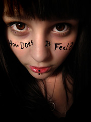 (Ashleigh Rose) Tags: portrait love girl words eyes thought lipring cliche howdoesitfeel