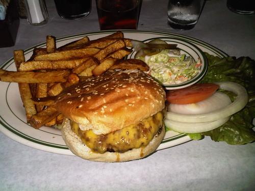 Buffalo burger with cheddar cheese