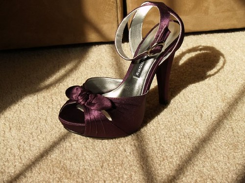Wedding shoes with beautiful color purple