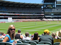 Ashley Taking in the MCG