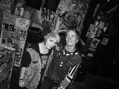 Olivia May + Sage <3  3/13/10 (IngyJO) Tags: blackandwhite love kids berkeley clubs punks monstersquad venues 924 gilman mohawks punkfashion 924gilmanbenefitshow punkcouples