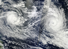 NASA Satellite Captures Tropical Cyclones Tomas and Ului (NASA Goddard Photo and Video) Tags: fiji nasa southpacific goddard solomonislands tropicalcyclone goddardspaceflightcenter ului tropicalcyclonetomas