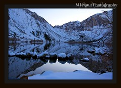 Convict Lake Reflections in Winter (MJ Nault Photography) Tags: winter lake snow mountains reflection mammothmtn convictlake