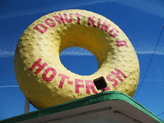 Donut King II (misscandydarling) Tags: donut roadside bigdonut