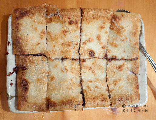 Red Bean Pan Fried Mochi Cake