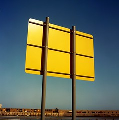 Yellow. (DJ Bass) Tags: blue signs colors yellow catchycolors colorful colours hasselblad roadsigns margate awesomecolours mymargate