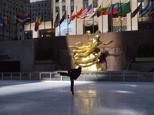 Rockefeller center figure skater