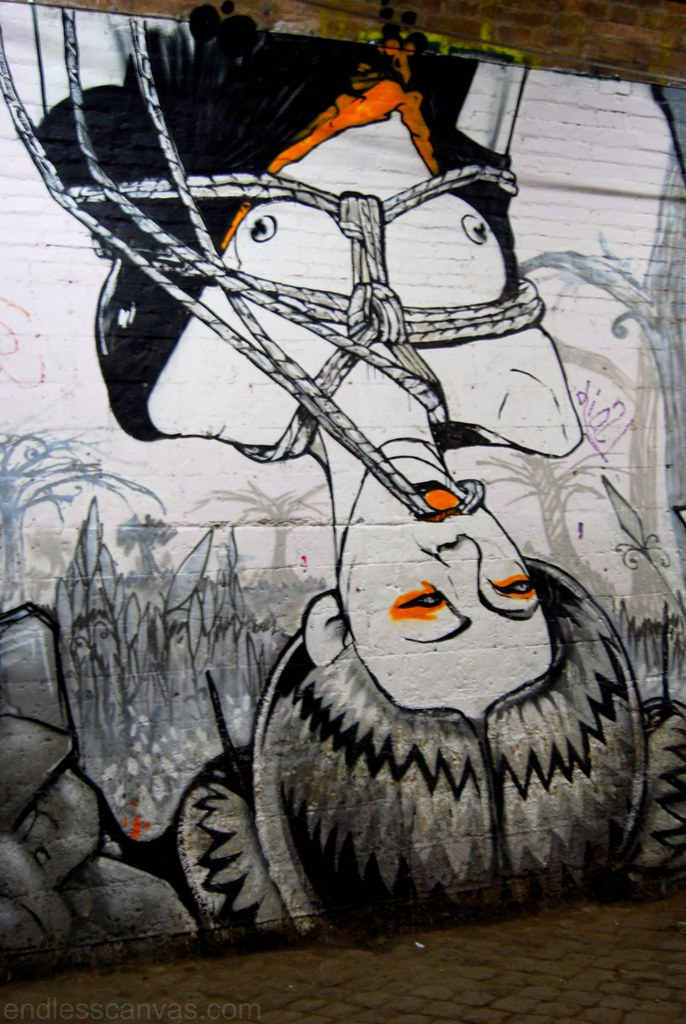 Street art graffiti mural squat rome italy.