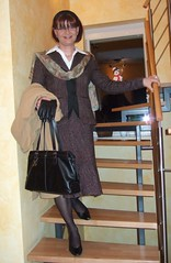 business suit (Marie-Christine.TV) Tags: winter woman lady tv feminine coat tgirl business suit transvestite secretary elegant feminin businesswoman mariechristine skirtsuit womans