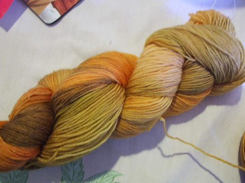 "Woolhunters everyday Sock Yarn ""Butternut Squash"""