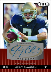 2010 SAGE Hit Autograph Jimmy Clausen