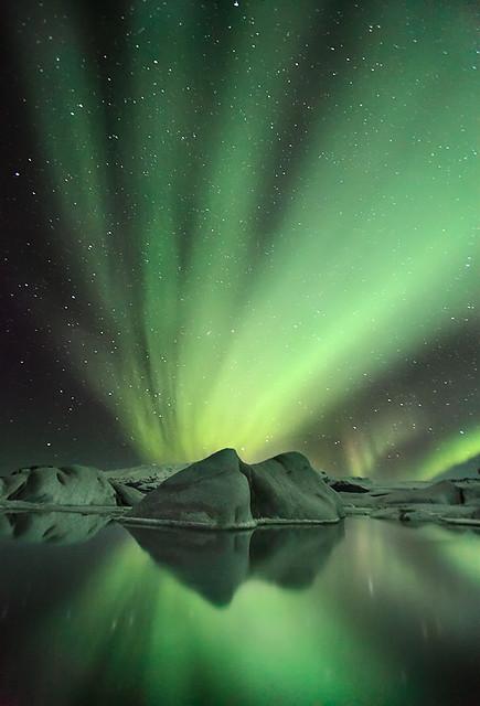 Glacier Aurora - Jökulsárlón