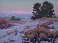 Last Light on the Sangres   12 x 16""