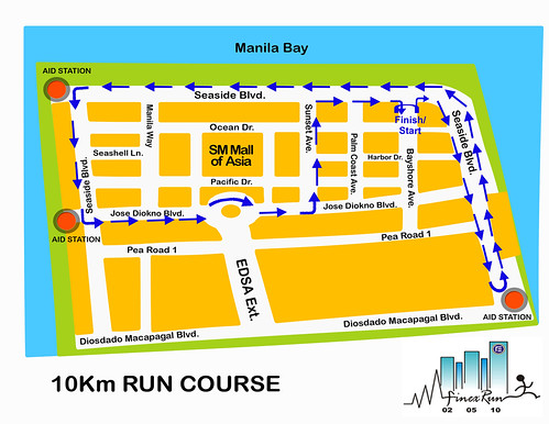 Finex Run 2010 - 10K Race Route