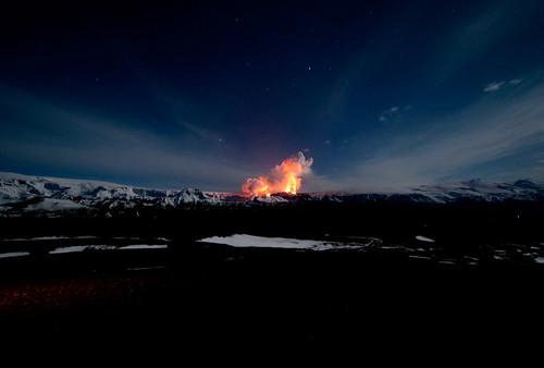 The Eyjafjallajökull volcano in Iceland