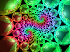 Cyclic reflective rainbow (fdecomite) Tags: circle spiral packing sphere math doyle povray