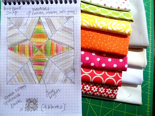 Brit Quilt Swap - First thoughts by Sarah @ pingsandneedles
