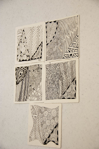 Zentangle 101 Class Work - Tile 1