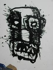 mike parsons ink on cardboard (andres musta) Tags: mike face ink sketch head drawing parsons
