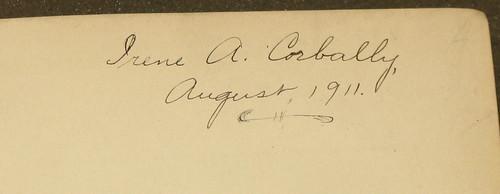 Corbally autograph