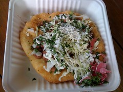 Tostada from El Gallo Taqueria