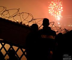 Watching the Fireworks (johnintheuk) Tags: silhouette night cheshire 365 runcorn fireworksdisplay canonef50mmf18ii wiggisland