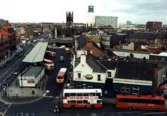 060752:Bus Station Haymarket Ermel T. 1995 (Newcastle Libraries) Tags: transport newcastleupontyne tynesidelifeandtimes transporttynesidelifeandtimesnewcastleupontyne