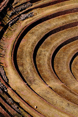 The Outer Limits of the Universe (cormend) Tags: travel shadow peru southamerica lines inca nikon ruins circles curves agriculture sacredvalley moray maras sudamerica incan d80 cormend