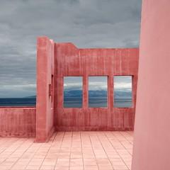 Pink Wall (Julio Lpez Saguar) Tags: pink sea espaa window clouds ventana mar spain rosa nubes tenerife canaryislands nofi islascanarias photooftheday juliolpezsaguar travelsofhomerodyssey