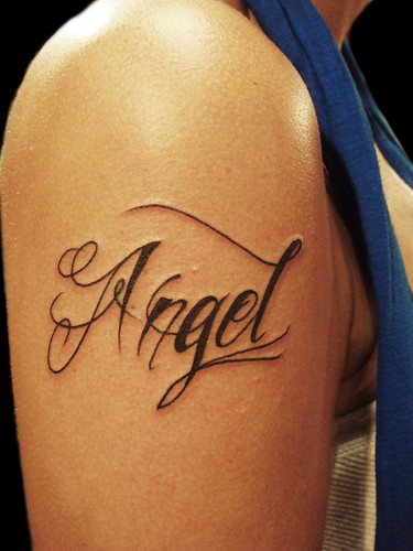 angel tattoo images. Angel tattoo ( yeap my name)