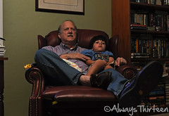 Papa (AlwaysThirteen) Tags: project carson photography papa 365 recliner dailyphoto photog watchingamovie