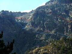 Partie centrale du versant de Sierra Pianella vue de la Grotte des Anges