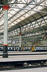 Waterloo Station, 1987 (cybertect) Tags: uk england canonav1 london station train unitedkingdom railway waterloo se1 canonfd50mmf18 epsonv700