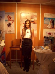 Me at Fuengirola Wedding Show (Sunset Beach Club) Tags: show november wedding sunset english beach club spain melissa staff 2009 fuengirola
