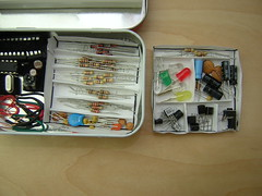Altoids Tin Electronics Lab (tray 1 removed) (Nick Ames) Tags: project electronic avr altoidstinelectronicslab