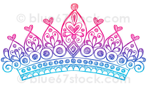 free princess crown clipart. Hand-Drawn Sketchy Princess
