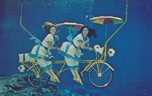 Mermaid Bicycle Built For Two - Weeki Wachee, Florida