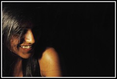 pk-13 (eopath) Tags: lighting light portrait woman india lamp girl beautiful smile face fashion wall sepia dark hair happy photography photo nice eyes nikon glow 10 indian picture posing pic calm human frame features dslr dusky vr megapixel d60 nikond60 ladp eopath